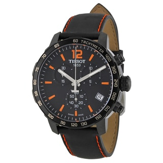 Tissot Men's T0954173605700 'Quickster' Chronograph Black Leather Watch