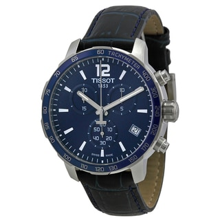 Tissot Men's T0954171604700 'Quickster' Chronograph Blue Leather Watch