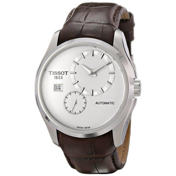 Shop Tissot Men s T0354281603100  Couturier  Automatic Brown Leather ... e224d011b26