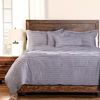 Tattered Lavender Cotton 6-piece Duvet Cover Set