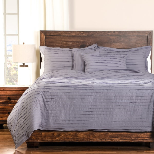 Tattered Lavender Cotton 6 Piece Duvet Cover Set