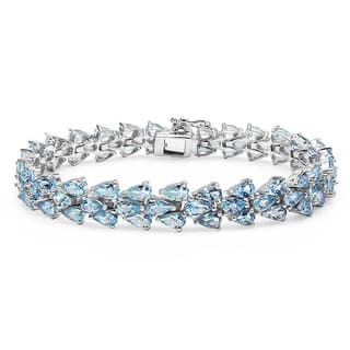 Malaika 14.94 Carat Genuine Aquamarine .925 Sterling Silver Bracelet|https://ak1.ostkcdn.com/images/products/9818635/P16983786.jpg?impolicy=medium