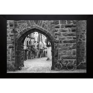 Monte Nagler 'Bicycle Of Riquewihr' Framed Art Print