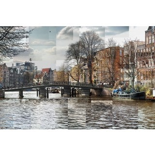 Pep Ventosa 'Zwanenburgwal Canal' Gallery-wrapped Canvas