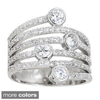 Decadence Sterling Silver Cubic Zirconia Accent Stacked Look Ring