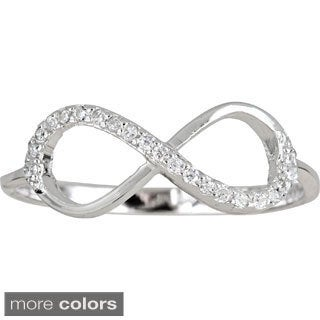 Decadence Sterling Silver Cubic Zirconia Infinity Ring