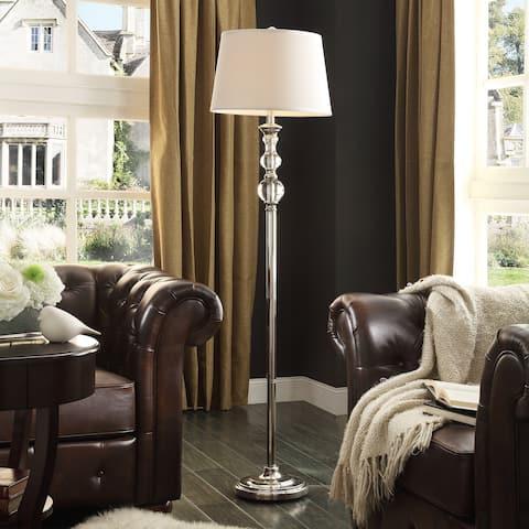 Quinn Light Nickel Crystal 1-light Accent Floor Lamp by iNSPIRE Q Bold