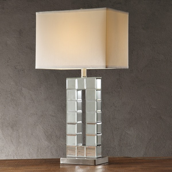 Bella Tiled Bevel Mirrored 1-light Accent Table Lamp by iNSPIRE Q Bold
