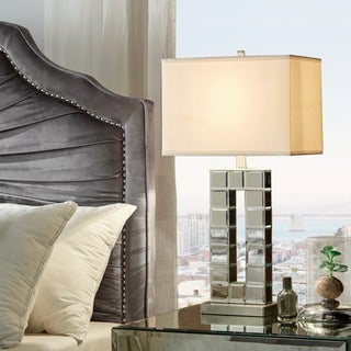 Bella Tiled Bevel Mirrored 1-light Accent Table Lamp by iNSPIRE Q ...