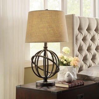 INSPIRE Q Cooper Antique Bronze Metal Orbit Globe 1-light Accent Table Lamp