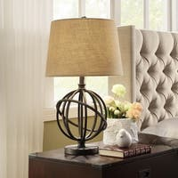 Cooper Antique Bronze Metal Orbit Globe 1-light Accent Table Lamp by iNSPIRE Q Artisan