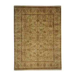 Gold Rajasthan Wool Hand-knotted Oriental Area Rug (9' x 12'1)