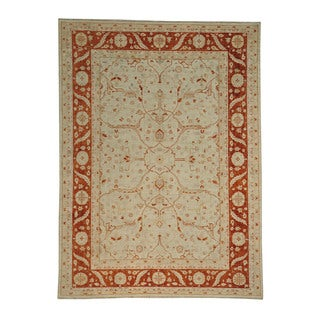 Peshawar Vegetable Dyes Wool Oriental Hand-knotted Area Rug (8' x 10'10)