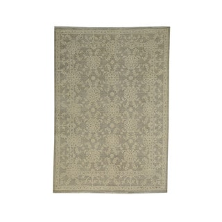 Wool Silver Wash Peshawar Oriental Hand-knotted Area Rug (5'4 x 7'7)