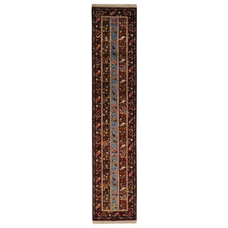 Wool Colorful Kashkuli Runner Hand-knotted Oriental Area Rug (2'9 x 13')