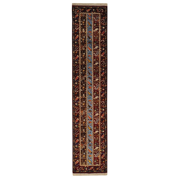 Wool Colorful Kashkuli Runner Hand-knotted Oriental Area Rug (2'9 x 13') - Multi - 2'9 x 13'