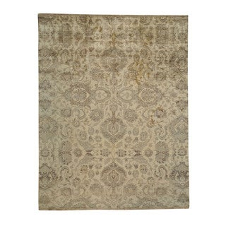 Hand-knotted Camel Fine Rajasthan Pure Silk Oriental Area Rug (8' x 10'2)