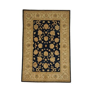 Fine Navy Ziegler Mahal Wool Hand-knotted Oriental Area Rug (5'3 x 7'10)