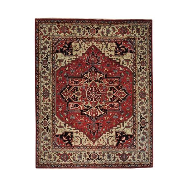 Hand Knotted Heriz Wool Fine Persian Oriental Area Rug: Shop Oversize Wool Serapi Heriz Hand-knotted Oriental Area