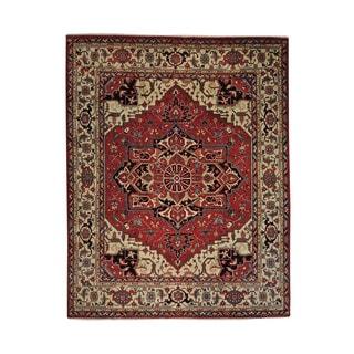 Oversize Wool Serapi Heriz Hand-knotted Oriental Area Rug (12' x 15')