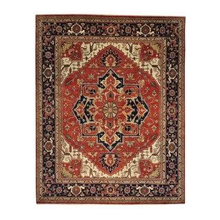 Rust Red Serapi Heriz Oversize Wool Handmade Oriental Area Rug (12' x 15'1)