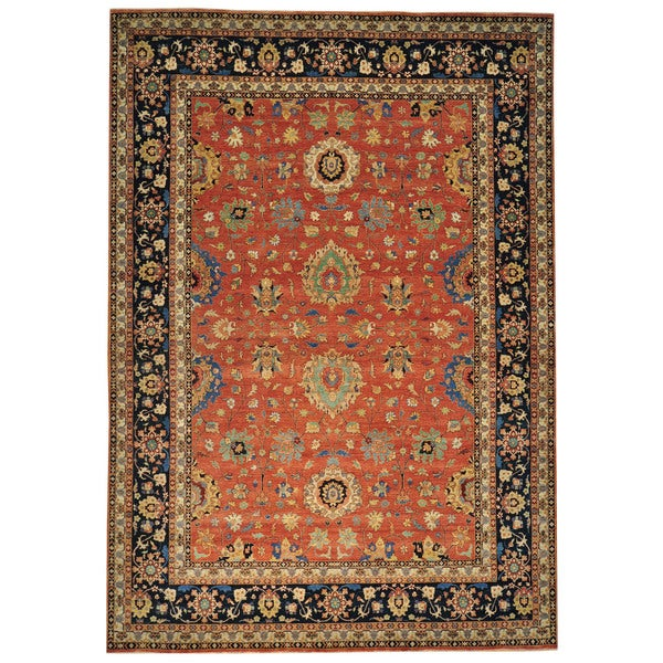 Hand Knotted Persian Wool Area Rug 5 10: Shop Rust Red Antiqued Tabriz Hand-knotted Oriental Wool