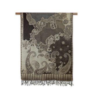 Handmade Wool 'Executive Elegance' Shawl (India)