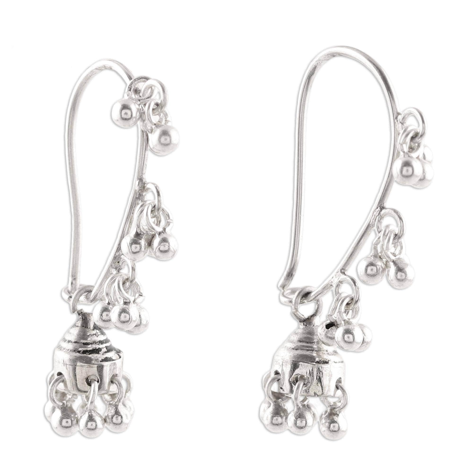 ethnic filigree earrings gypsy earrings Indian chandelier earrings christmas gift woman ethnic gift idea silver hippie earrings