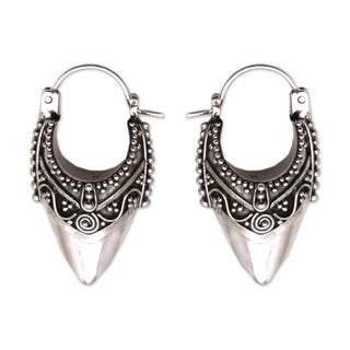 Handcrafted Sterling Silver 'Bali Origin' Earrings (Indonesia)