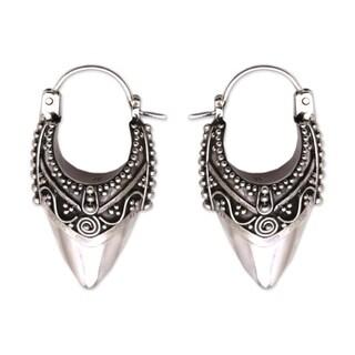 Handmade Sterling Silver 'Bali Origin' Earrings (Indonesia)