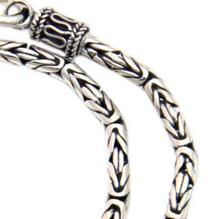 Borobudur Tradition 925 Sterling Silver with Hook Clasp Balinese Byzantine Style Snake Chain 18 Inch Long Necklace (Indonesia)|https://ak1.ostkcdn.com/images/products/9820660/P16985576.jpg?impolicy=medium