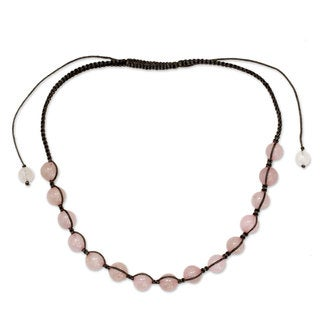 Link to Handmade 'Oneness' Rose Quartz Necklace (India) Similar Items in Fashion Jewelry Store