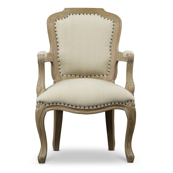 Shop Poitou Wood Traditional French Accent Chair Free
