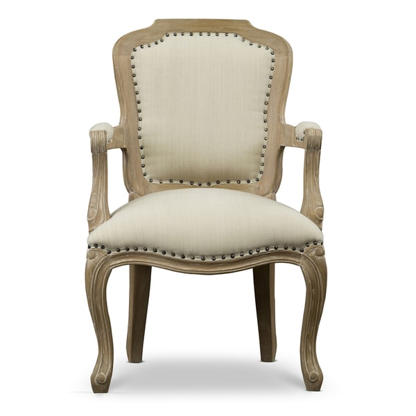 Poitou wood traditional french accent chair free for Traditional wooden kitchen chairs
