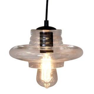 Vintage Glass Saucer Pendant Ceiling Lamp