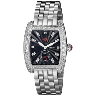 Michele Women's MWW02A000403 'Urban Mini' Diamond Silver Stainless Steel Watch