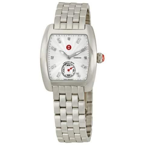 Michele Women's MWW02A000502 'Urban Mini' Diamond Silver Stainless Steel Watch