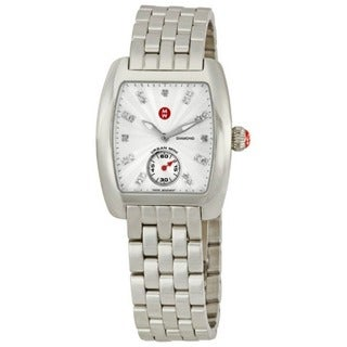 Michele Women's MWW02A000502 'Urban Mini' Diamond Silver Stainless Steel Watch
