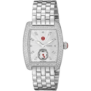 Michele Women's MWW02A000508 'Urban Mini' Diamond Silver Stainless Steel Watch