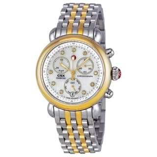 Michele Women's MWW03M000164 'CSX-36' Chronograph Diamond Two tone Stainless Steel Watch