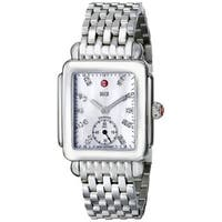 Michele Women's MWW06V000002 'Deco 16' Diamond Silver Stainless Steel Watch