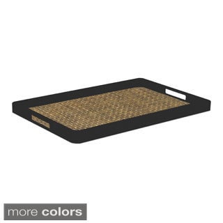 Woven Vinyl Rectangular Serving Tray