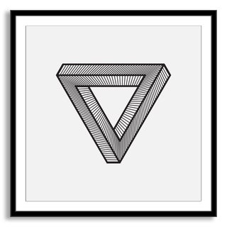 Gallery Direct Kovalto1's 'Impossible Triangle' Framed Paper Art