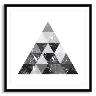 Gallery Direct Kovalto1's 'Triangle Tiles' Framed Paper Art