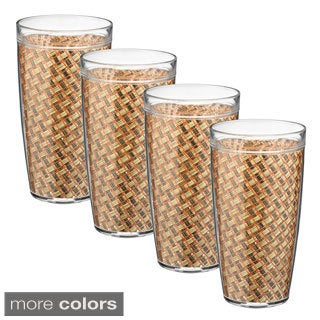 Woven Vinyl 22-ounce Doublewall Drinkware (Set of 4)