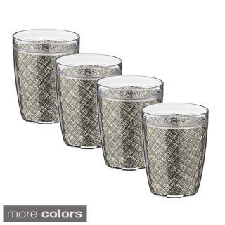Woven Vinyl 14-ounce Double Wall Drinkware (Set of 4)