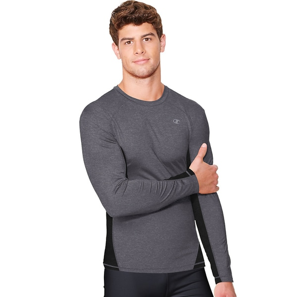 2737d363 Shop Champion Vapor PowerTrain Long Sleeve Colorblock Men's Tee - Free  Shipping On Orders Over $45 - Overstock - 9820994