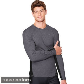 Champion Vapor PowerTrain Long Sleeve Colorblock Men's Tee