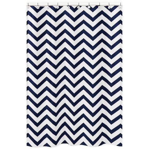 Sweet Jojo Designs Navy/ White Chevron Shower Curtain