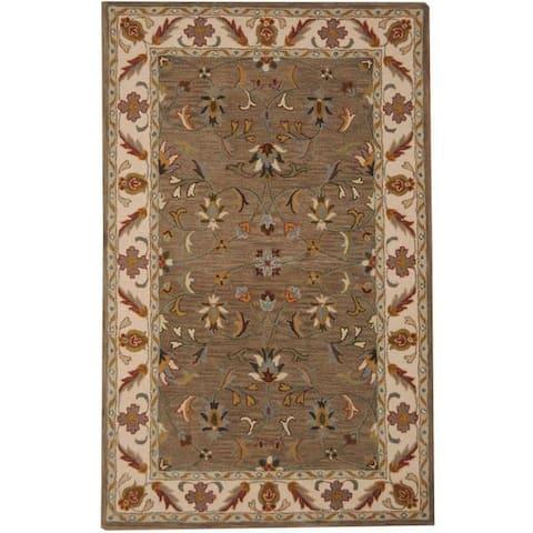 Handmade Tabriz Wool Rug (India) - 5' x 8'